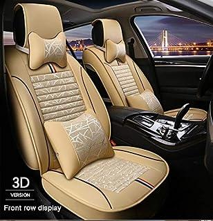 TK#-أغطية مقاعد السيارات - جلد مغلق بالكامل بالإضافة إلى الكتان أربعة مواسم لبطانات مقعد السيارة BMW E30/34/36/39/46/60/90...