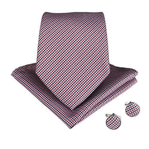 KDSXMLS Breite Seidenkrawatten Für Männer Gestreift 8Cm Herren Krawatten Business Red Hochzeitsanzug Krawatte Schwarz Weiß