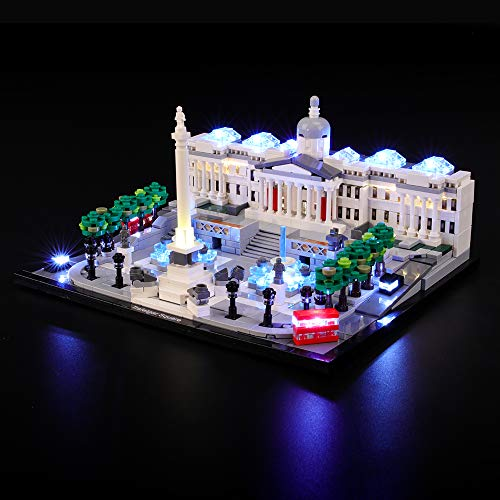 BRIKSMAX Led Lighting Kit for Architecture Square - Compatible with Lego 21045 Building Blocks Model- Not Include The Lego Set