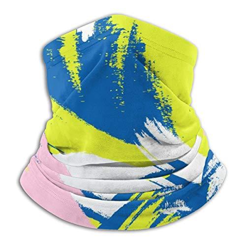 Akhy Multifunctional Headwear Face Mask Headband Neck Gaiter Hand Drawn Brush Stroke Shapes Balaclava for Men and Women