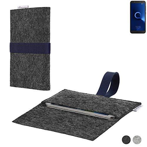flat.design Handy Hülle Aveiro für Alcatel 1C Dual SIM passgenaue Filz Tasche Case Sleeve Made in Germany