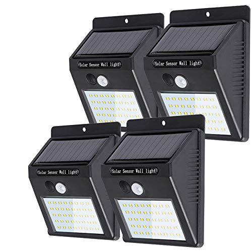 Lifeholder 40LED ソーラーライト 人感センサーライト 太陽光発電 屋外照明 玄関 軒先 駐車場 大活躍 防水 防犯ライト 両面テープ付き 取付簡単 4個セット
