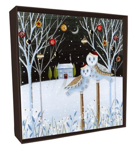 Weihnachten Sparkle Box Karten xlsb011a Luxus Eulen Weihnachten Karte (Pack von 6)