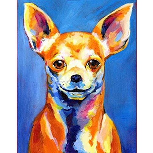 yaoxingfu Sin Marco Un Cachorro Serio Animal Canvas Wedding Decoration Art Picture Gift 30x45cm