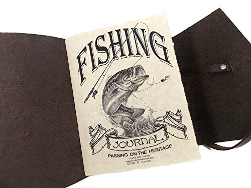Fishing journal traditioanl first year wedding anniveray gift idea