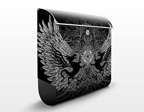 Apalis Design Briefkasten Drachenflügel 39x46x13cm Tiere Esoterik Gothic Tribal, Größe:46cm x 39cm