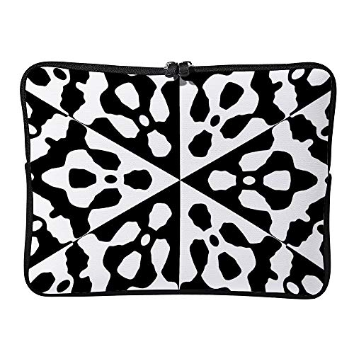 Black and White Irregular Circle 13 Inch Protective Laptop Sleeve Ultrabook Notebook Carrying Case Compatible with MacBook Pro MacBook Air Tablet Briefcase Bag