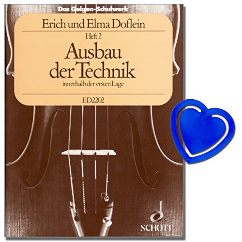 Das Geigen-Schulwerk Violine Schule Band 2 - Ausbau der Technik innerhalb der ersten Lage - Ein Lehrgang der Violintechnik verbunden mit Musiklehre und Übung des Zusammenspiels mit Notenklammer