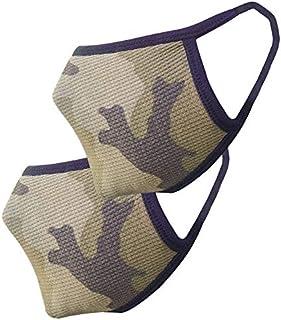 nestroots Cotton Face Mask Pack of 2 Army Print Washable Reusable Face Masks  Soft Earloop/Mouth Nose cover Face Masks Men Women Kids Unisex  cover Face Masks ( black)