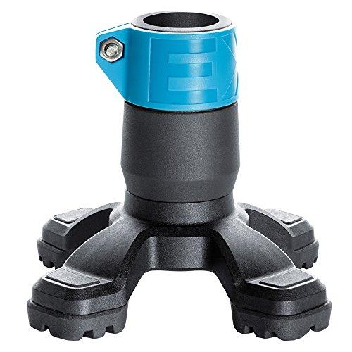 4-Punkt Gummikapsel SAFETY FOOT in türkis mit Stahleinlage für Rohrdurchmesse 19-20mm