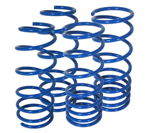 AJP Distributors For Nissan 240sx S14 Silvia Suspension Racing Coil Drop Lower Lowering Sport Spring Kit Blue