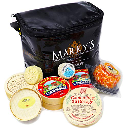 French Cheese Sampler Gift Basket (8 types of cheese)