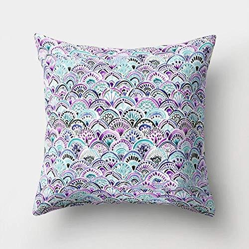 ETbotu Kussensloop Mooie zeemeermin-schaal patroon Throw Pillow Cover slaapkamer bank auto decoratie