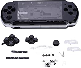 ASHATA Game Shell for PSP 3000,Replacement Full Housing Console Game Shell Case Cover Repair Parts for PSP 3000 (Black)