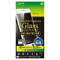 Deff iPhone 6 6s Plus 対応 液晶 保護 ガラス フィルム プレート Dragontrail X 0.21mm クリア/Chemically Toughend Glass Screen Protector/DG-IP6SG2F / DG-IP6PSG2F (iPhone 6 Plus / 6s Plus, ホワイト(白))