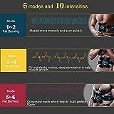 Tumax Estimulador Muscular Abdominales, ABS Músculo Estimulador, EMS Entrenamiento de Tonificación Abdominal Portátil para Hombre/Mujer, Abdomen Brazo Piernas Glúteos, con Almohadillas de Gel 12 pcs
