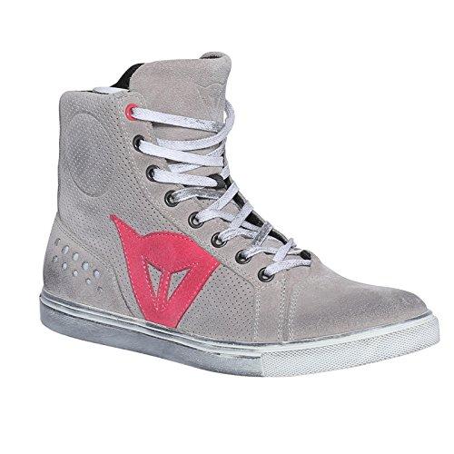 Dainese-STREET BIKER AIR LADY Schuhe, Light-Grau/CORAL, Größe 38
