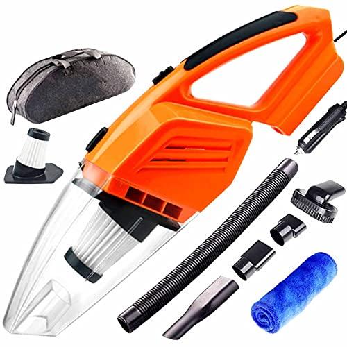 MCYAW Aspirador de automóviles Cleadera de Mano Mini aspiradora Mini aspiradora para automóviles potentes limpiadores de vacíos automáticos (Color : Orange)