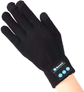 SUMDY Bluetooth Touchscreen Gloves, Touch Screen Knit Winter Talking Gloves with Bluetooth, 1 Pair