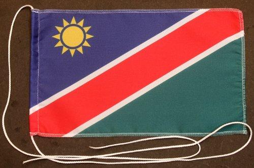 Buddel-Bini Namibia 15x25 cm Tischflagge in Profi - Qualität Tischfahne Autoflagge Bootsflagge Motorradflagge Mopedflagge