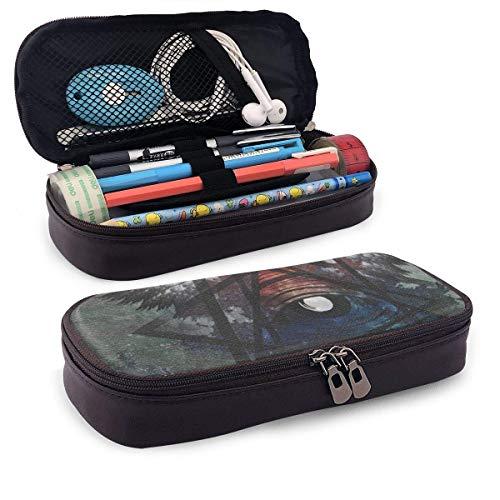 Lawenp Multifunktionspaket Illuminati Cave Leather Pencil Case for School Students Office Pen Pencils Box