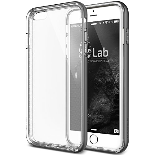 iPhone 6S Plus Case, Verus [Crystal Bumper][Steel Silver] - [Clear][Military Protection] For Apple iPhone 6 6S Plus 5.5