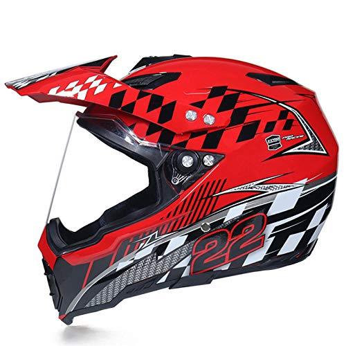 Motocross Rallye Lens Anti-UV veiligheidshelm voor motorfiets snelweg integraalhelm M Scarlet 22