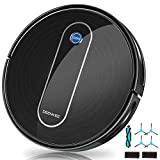 Robot Vacuum, DEENKEE 1500Pa Super Suction, 90 Min Running Time, 4+2 Cleaning Modes, Quiet, Self-Charging DK600 Robotic Vacuum Cleaner Ideal for Pet Hair, Hard Floors, Carpets