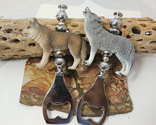 Howling Wolf or She Wolf Bottle Opener, Bar Ware, Wild Animal Gift