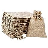 Sacos de Yute con Cordón Bolsitas de Joyas, 20 Piezas Pequeña Bolsas de Regalo para Bodas, Fiestas, Bricolaje Manualidades, 13,5x10cm