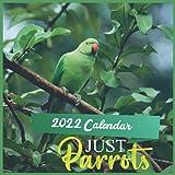 Just Parrots Calendar 2022: 12 Month Mini Calendar from Jan 2022 to Dec 2022 , Monthly Square Calendar, Wildlife Calendar 2022 , Birds Calendar 2022