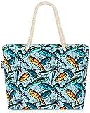 VOID Redes de Cebo de Pesca Bolsa de Playa 58x38x16cm 23L Shopper Bolsa de Viaje Compras Beach Bag Bolso
