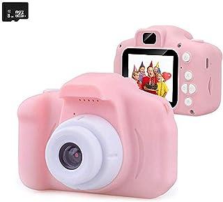VicSec トイカメラ 子供用デジタルカメラ ミニカメラ 自撮り 2.0インチIPS画面 多機能 子供カメラ 多機能 時限撮影 SDカード付き 誕生日 プレゼント ギフト 日本語説明書付き ピンク