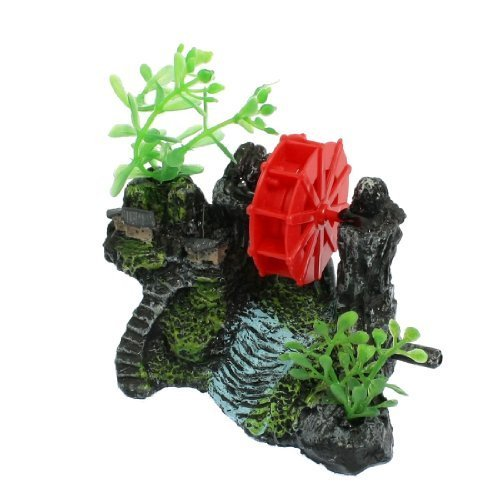 Water & Wood Resin Aquarium Landscape Decoration, Red