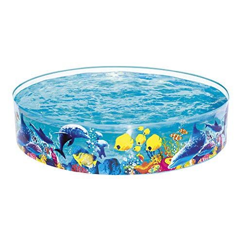 Best Way Rigida Fantasia Mare Cm 183X38 Piscina Gioco Estivo Estate 499, Multicolore, EJ-6942138913774