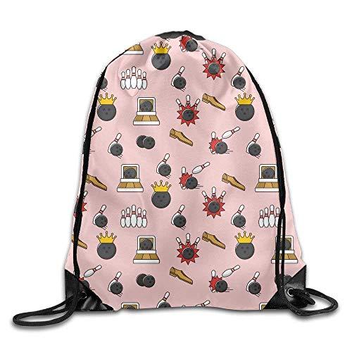 ZHIZIQIU Drawstring Gym Sport Bag Bowling Sport Fashionable Travel Bag for Unisex Canvas Bag Drawstring