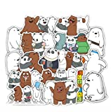 WENCHI Bears Stickers Crtoon Cute Little Bear Sticker PVC Impermeable Graffiti Sticker para Laptop Equipaje Juguete Coche 36 Unids/Set