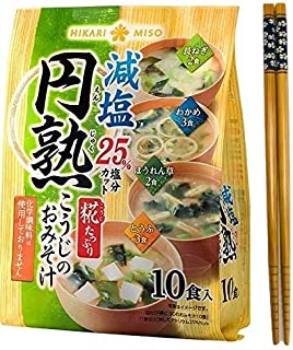 Hikari Organic Instant Miso soup with Malted rice KOJI - 10 meals set of 4 tastes - Healthful Reduced-salt Miso soup with ...