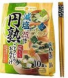 Hikari Organic Instant Miso soup with Malted rice KOJI - 10 meals set of 4 tastes - Healthful Reduced-salt Miso soup with Chopsticks