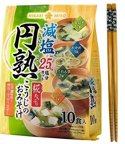 Hikari Organic Instant Miso soup with Malted rice KOJI - 10 meals set of 4...