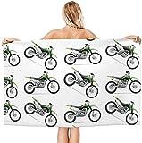 LUYIQ Toalla de Playa Grandes de Antiarena de Microfibra para Hombre Mujer, Bicicleta de Tierra Verde -150x70cm, Toallas Baño Secado Rapido para Piscina, Manta Playa, Toalla Yoga Deporte Gimnasio