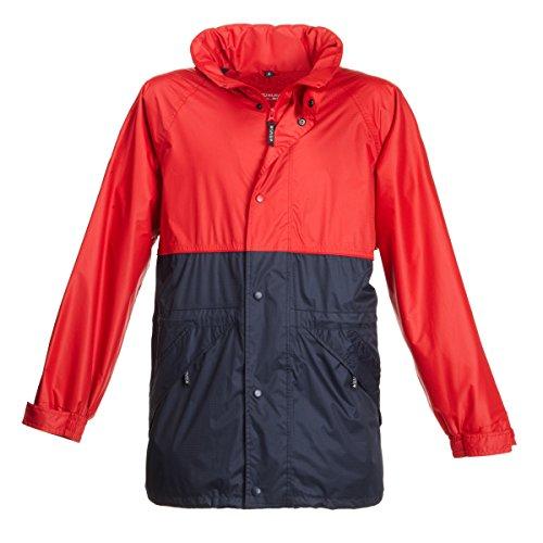 BMS Regenjacke Comfort, Rot + Marine, Größe 2XL