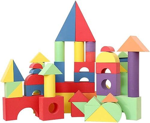 GKPLY Kinder Schaumstoffblock, 50 Stück Kork Struktur gestapelt Bl e Puzzle BAU Spielzeug Kinderspielzeug und Geschenke