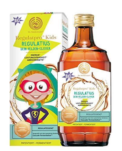 Dr. Niedermaier Regulatpro® Kids Regulatius I enthält natürliches Vitamin C für Kinder I Immunsystem stärken I mit Agavendicksaft I ab 2 Jahren, für eine rein pflanzliche Immunregulierung I 2x 350ml