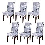 BTSKY - Funda para silla de comedor, estilo moderno, elástica, extraíble y resistente, lavable (silla no incluida)