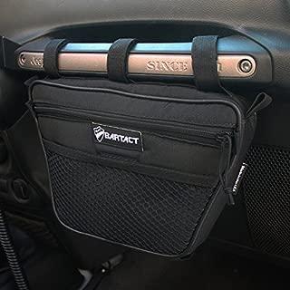 Bartact Universal Jeep Wrangler JK,TJ,YJ,CJ Passenger Grab Handles UV Protected Polyester Dash Bag-Pouch (Black)