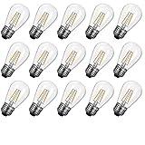 S14 Led Light Bulbs 2700K, Warm White, Shatterproof...