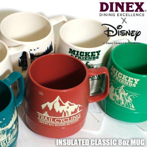 【DINEX × Disney 】ダイネックス × ディズニー INSULATED CLASSIC MUG CUP クラシック マグカップ (ワンサイズ, C:ホワイト/パーフェクトネイチャ)