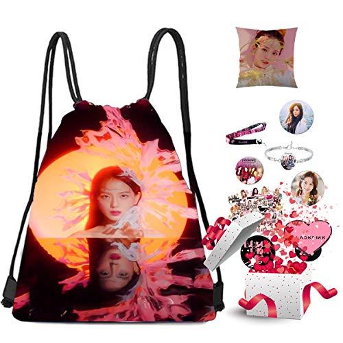 Blackpink Gifts Set For Blink - Juego de fundas de almohada para mochila y mochila, color rosa y negro