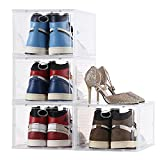 Aliscatre Shoe Box,Set of 4,Stackable Clear...